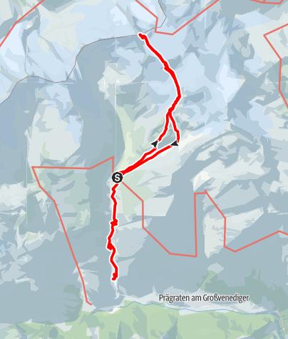 Karte / Hochtour zum Großvenediger