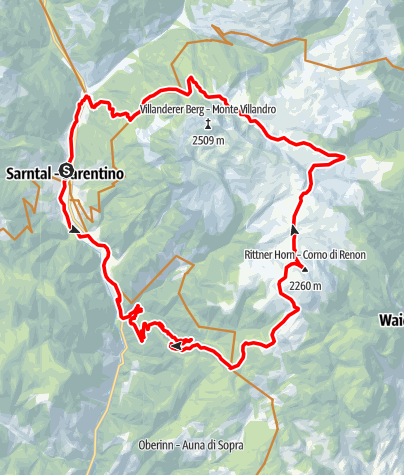 Karte / Rittner Horn von Sarnthein