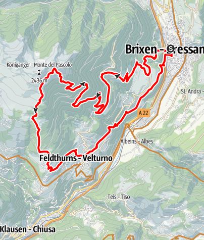 Karte / Radlseehütte von Brixen