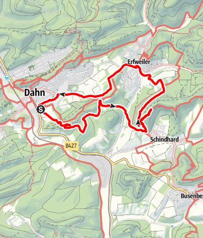 Karte / Dahn-Hochstein-Schindhard-Erfweiler-Dahn 11 km