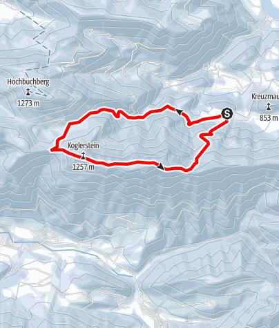 Karte / Schinderweg mit Schobersteinhaus