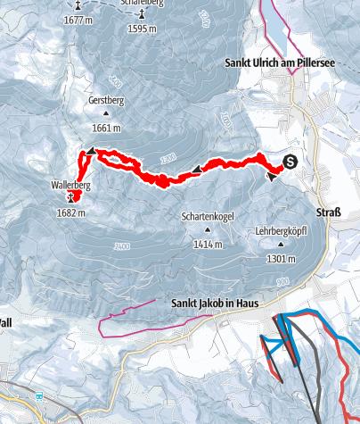 Karte / Wallerberg St.Ulrich 1682m