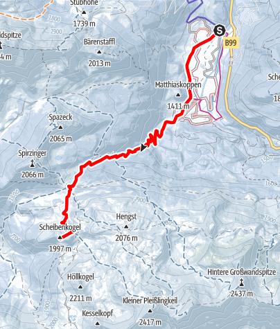 Karte / Scheibenkogel