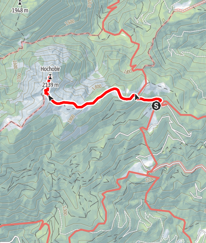 Karte / Von der Eisenkappler Hütte zum Hochobir und zurück