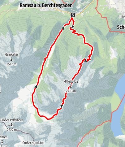 Karte / Bergtourklassiker: Die Watzmannüberschreitung