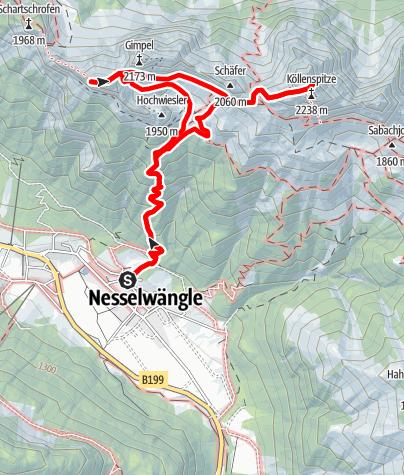 Karte / Rot Flüh und Köllenspitze