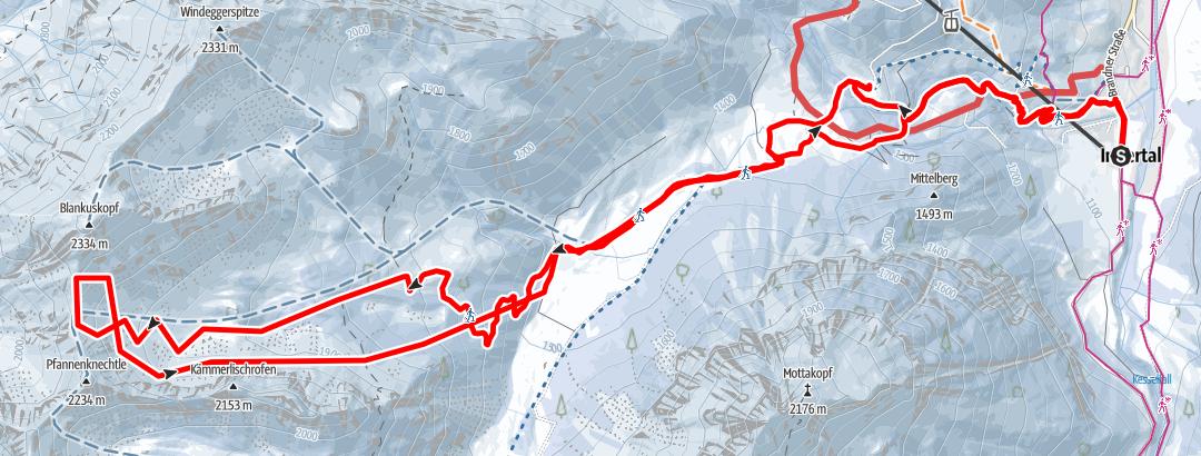 Karte / Hinterjöchle Brandnertal