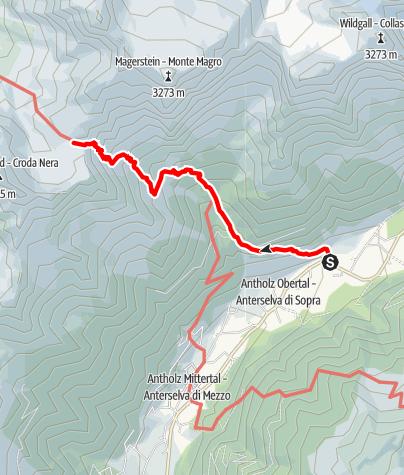 Karte / Rieserferner-Durchquerung - Etappe 1: Antholz - Rieserfernerhütte