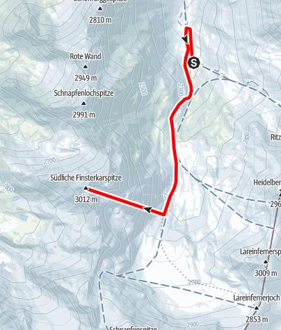 Karte / Skitour in der Silvretta auf die Lareinfernerspitze