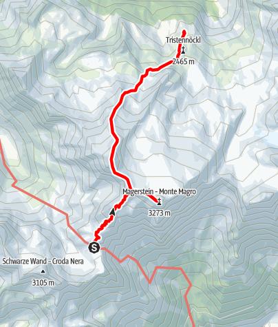 Map / Rieserferner-Durchquerung - Etappe 2: Rieserfernerhütte - Schneebiger Nock - Kasselerhütte