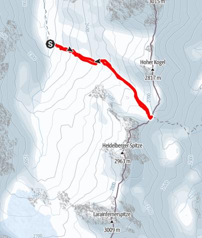 Karte / Skitour in der Silvretta: Zum Ritzenjoch