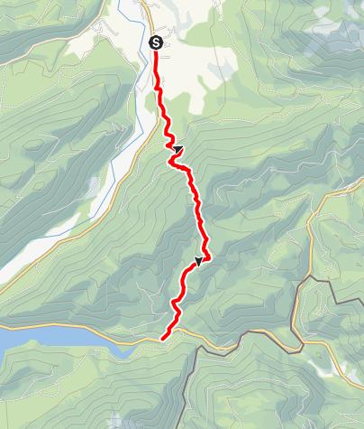 Map / Von Lenggries zum Sylvenstein - Badevergnügen inklusive