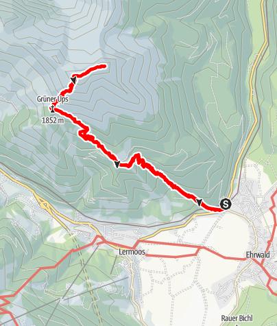 Map / Upsspitz + Daniel über Grüner Ups
