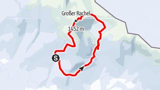 Map / Winterwanderung im Bayerrischen Wald: Auf den Großen Rachel