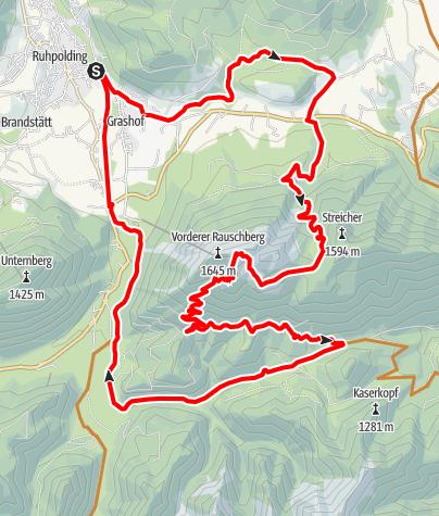 Karte / Auf den Rauschberg: Den Hausberg von Ruhpolding