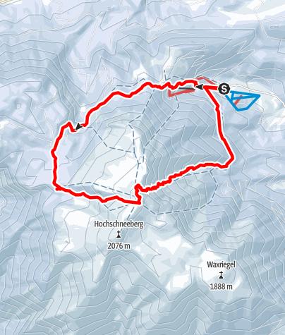 Karte / Schneeberg - Wurzengraben - Breite Ries