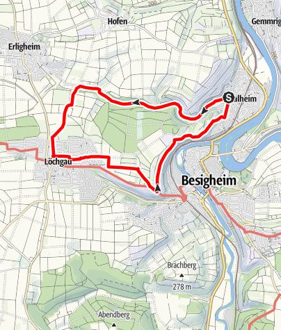 Karte / Wanderung-Walheim-Baumbachtal-Walheim