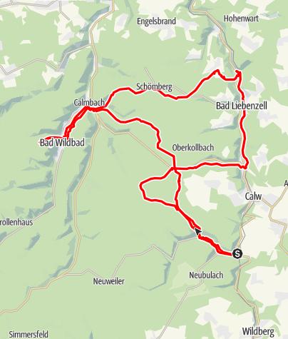 Karte / Gipfelsicht Pro-Team: Teinacher-Qualen