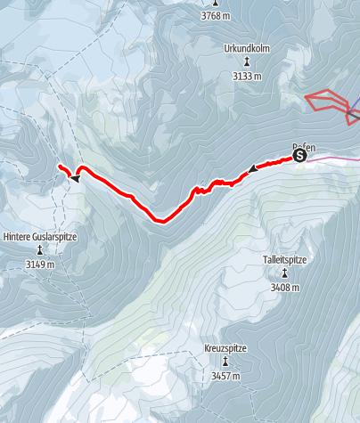 Karte / Rofen (Vent) - Vernagthütte 2755m