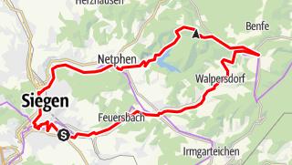Karte / Siegerländer Entdeckertour - Netphener Land und der Rothaarkamm
