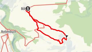 Karte / Böbing - Brombergalm - Böbing
