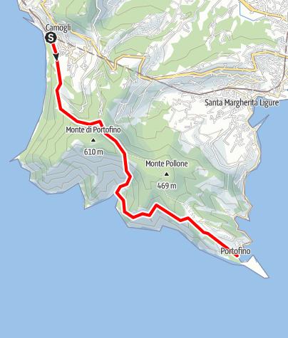 Karte / Camogli -San Fruttuose - Portofino