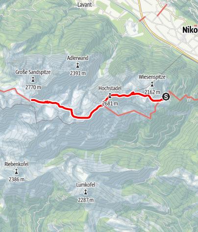 Karte / Dreitörlweg in den Lienzer Dolomiten