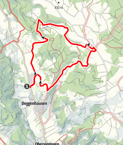 Karte / Deggenhausen - Höchsten
