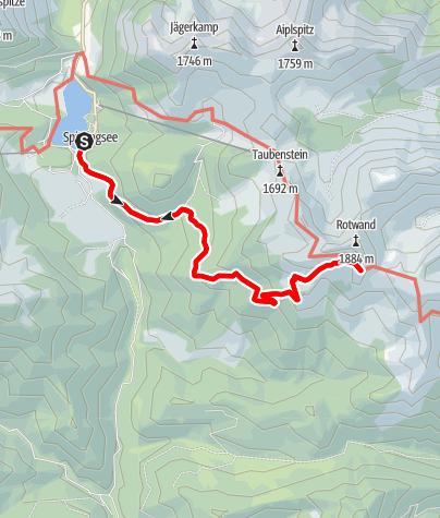 Karte / Rotwandhaus, Spitzingsee