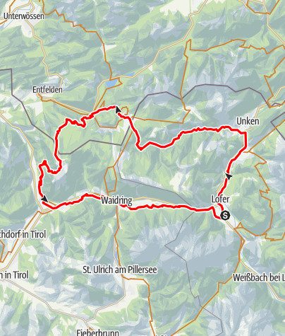Karte / Lofer-Seegatterl-Straubinger Haus-Lofer