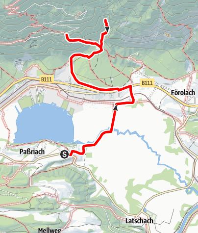 "Karte / Zuchen Wasserfall & Seeblickfelsen ""Pressegger See"""