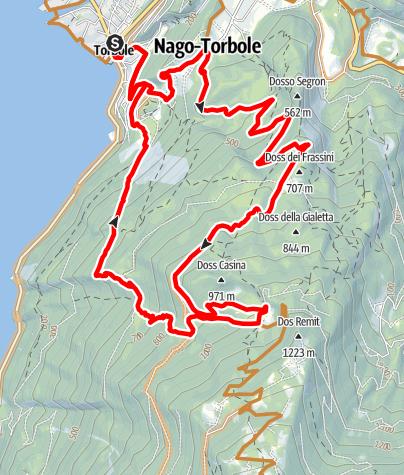 Karte / Coast Trail oder Bungabunga von Torbole
