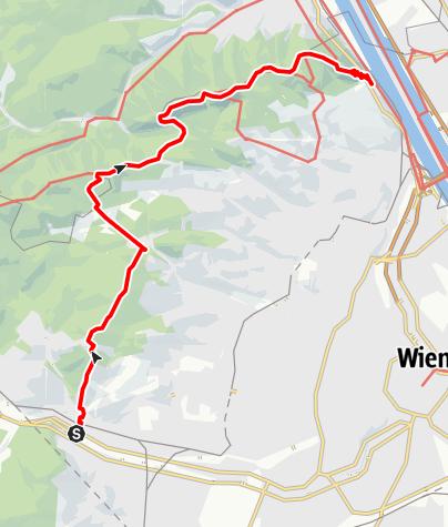 Karte / Von Hütteldorf nach Kahlenbergerdorf