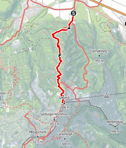 Map / Reitsteig Untersberg