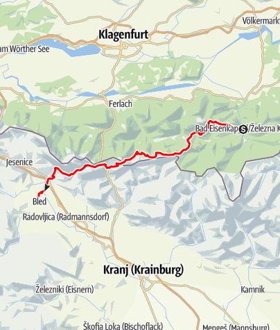 Karte / Bad Eisenkappel - Bled