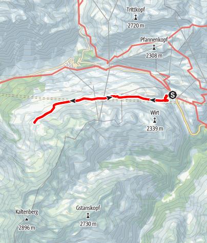 Map / Zur Kaltenberghütte