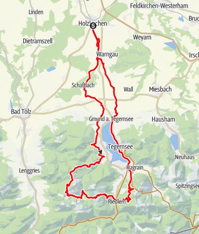 Karte / Aueralm-Rauhalm-Schwarzetenn-Halseck-Setzberg