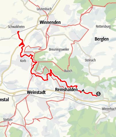 Karte / Durch die Weinberge nach Schwaikheim