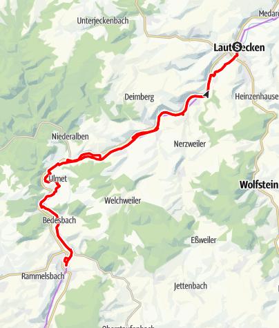 Karte / Lauterecken-Altenglan-Lauterecken 22.07.13n