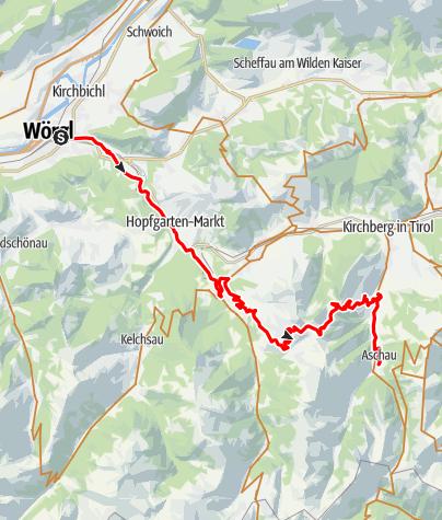 Karte / Die Brechhornrunde