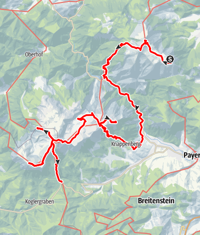 Karte / 1 Woche Wiener Hausberge