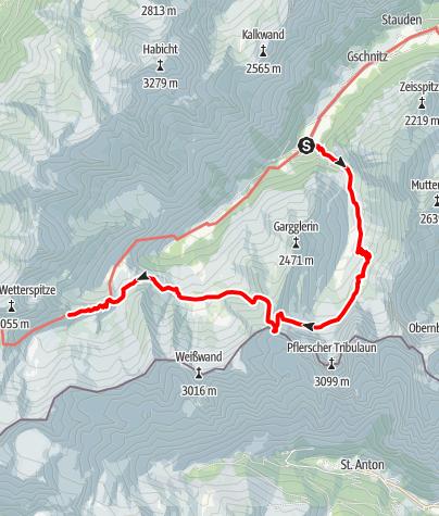 Map / von Gschnitz zur Bremerhütte