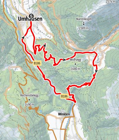 Karte / Der Wiesle Trail im Ötzal