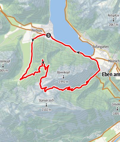 Karte / Von Pertisau zur Bärenbadalm