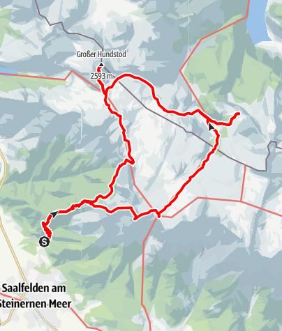 Karte / Steinernes Meer