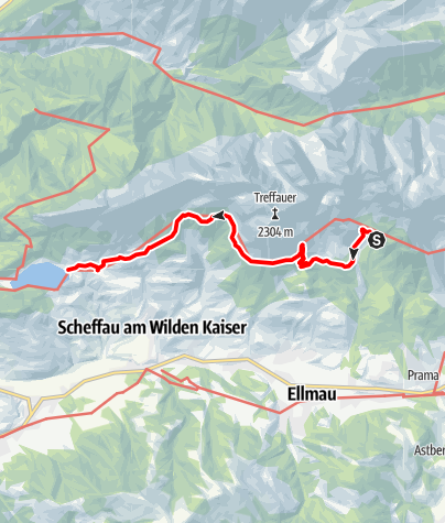 Karte / Gaudeamushütte - Hintersteiner See