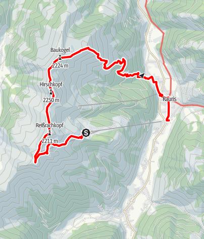 Karte / Rauris-2013-09-04: 5-Gipfel-Tour