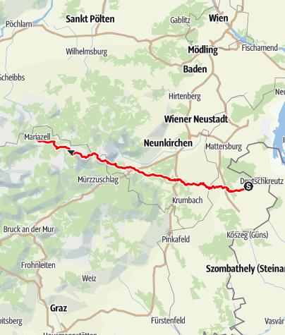 Map / von Horitschon nach Mariazell 2014