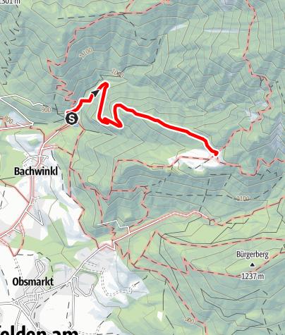 Karte / Bachwinkl zur Steinalm