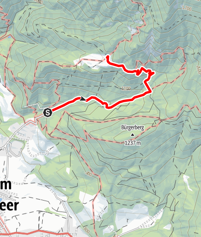 Karte / Steinalm über Kalmbach - Überlacker